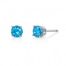Stanton Color 14k Gold Blue Topaz Earrings