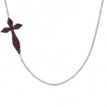Gabriel Silver Faith Garnet Necklace NK4802SVJGN