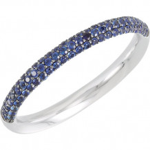 14k White Gold Stuller Sapphire Stackable Ring