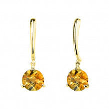 Stanton Color 14k Gold Citrine Dangle Earrings