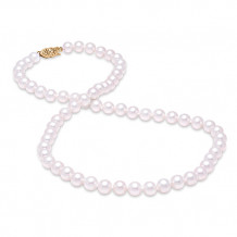 Mastaloni Ladies 14k Yellow Gold Freshwater Pearl Strand Necklace