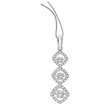 14K White Gold 1ct Diamond Rhythm Of Love Pendant