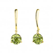 Stanton Color 14k Gold Peridot Dangle Earrings