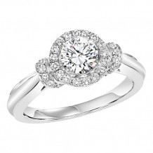 14k White Gold 1/4ct Diamond Engagement Ring with 3/4ct Center Stone