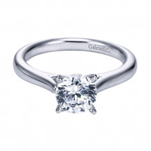 Gabriel & Co. 14k White Gold Round Solitaire Engagement Ring