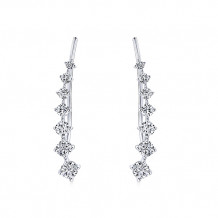 14k White Gold Gabriel & Co. Diamond Earcuffs Earrings