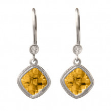 Stanton Color 14k Gold Citrine Leverback Earrings