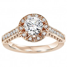 14k White Gold 1/4ct Diamond  Semi Mount Engagement Ring