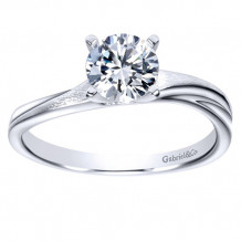 Gabriel & Co 14k White Gold Round Solitaire Engagement Ring
