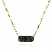 Gabriel 14K Yellow Gold Indulgence Black Diamond Necklace NK4943Y4JBD
