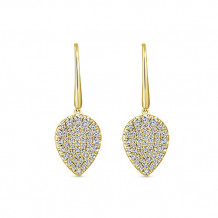 14k Yellow Gold Gabriel & Co. Diamond Drop Earrings