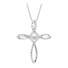 Sterling Silver Diamond Rythm Of Love Necklace