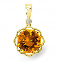 Stanton Color 14k Gold Citrine Pendant