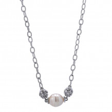 Gabriel Silver Infinite Gems Pearl Necklace NK3082SVJPL