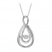 Sterling Silver Diamond Rythm Of Love Pendant
