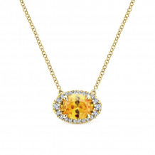 Gabriel 14K Yellow Gold Lusso Color Citrine Necklace NK5312Y45CT