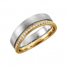 Stuller 14k Two Tone Diamond Wedding Band