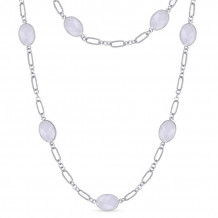 Gabriel Silver Infinite Gems Agate Necklace NK5348SVJWA