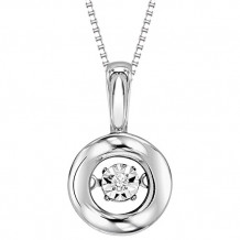10K White Gold Diamond Rythm Of Love Pendant