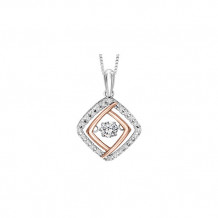 Sterling Silver & Rose Gold 1/3ct Diamond Rhythm of Love Pendant