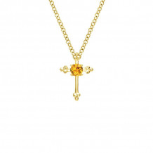 Gabriel & Co. 14K Yellow Gold Faith Citrine Necklace NK1694Y4JCT