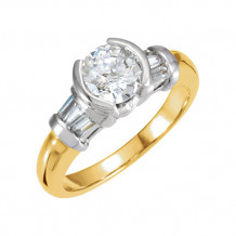 Stuller 14k Two-Tone Gold Semi-Mount Engagement Ring