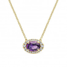 Gabriel 14K Yellow Gold Lusso Color Amethyst Necklace NK5312Y45AM