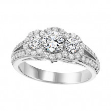 14k White Gold 1ct Diamond  Semi Mount Engagement Ring