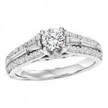 14k White Gold 1/2ct Diamond  Semi Mount Engagement Ring